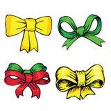 Bows and ribbons. Holidays set stock illustration
