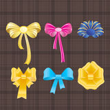 Bows and ribbons. Royalty Free Stock Image