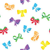 Bows and ribbons seamless. Colors background vector illustration