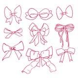 Bows and ribbons set Stock Photography