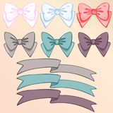 Bows and ribbons  set Stock Images