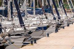 Bows of Sailing Yachts Royalty Free Stock Image