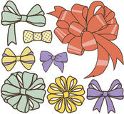Bows set Royalty Free Stock Photo