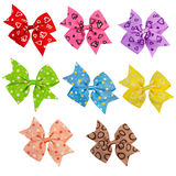 Bows set of different colors Stock Photos