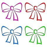 Bows, set, pictogram Stock Image