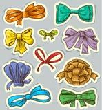 Bows set Stock Photos