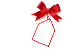 Bows with tags Royalty Free Stock Photo