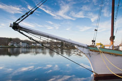 Bowsprit and Blue Sky Stock Photo