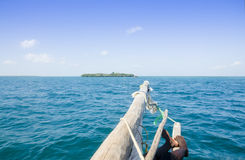 Bowsprit on the Boat of Zanzibar Royalty Free Stock Photography