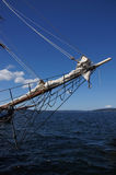Bowsprit and forward section of tall ship Royalty Free Stock Photos