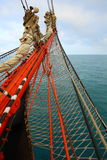 Bowsprit an old sailing ship Royalty Free Stock Image