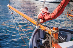 Bowsprit of an old sailing ship Royalty Free Stock Images
