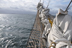 Bowsprit of sail boat stock photography