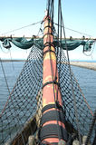 Bowsprit on sailing vessel Stock Image