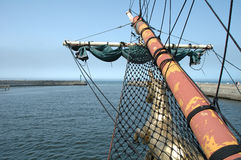 Bowsprit on sailing vessel Stock Images