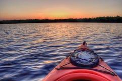 Bowstring het Meer maakt Deel uit van het Bloedzuigermeer Inheemse Amerikaanse Reserva royalty-vrije stock afbeelding