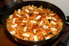 bowtie συνταγή ζυμαρικών Στοκ Φωτογραφία