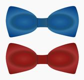 BowTie. Illustration of Blue and Red bowtie Stock Photos
