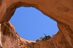 Bowtie Arch (near Corona Arch) Royalty Free Stock Photos