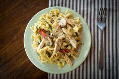 Bowtie Chicken Alfredo Royalty Free Stock Image