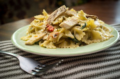 Bowtie Chicken Alfredo Royalty Free Stock Photography