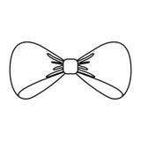 bowtie elegancka odosobniona ikona ilustracja wektor