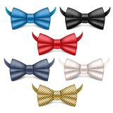 Bowtie icons set, realistic style royalty free illustration