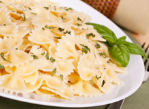 Bowtie pasta Royalty Free Stock Images