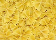 Bowtie pasta background Stock Photo