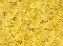 Bowtie pasta background Stock Image