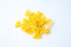 Bowtie pasta farfalle Royalty Free Stock Images