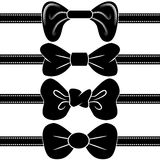 Bowtie Set. An image of a black bowtie set Royalty Free Stock Photography