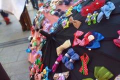 Bowtieparaplu Stock Foto's