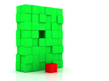 Box. The abstract image. The big cube which consists of small cubes Stock Photos