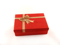 Box. Red box isolated on the white background. Clipping path included for easy selection Stock Photos