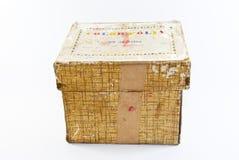 A box. A big old yellow box Stock Image