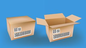 Box. Packaging, package,  packing box vector Royalty Free Stock Photo