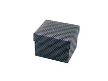 Box. Fabric covered box isolated Royalty Free Stock Images