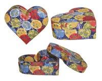 Box. Heart-shaped box of paper Royalty Free Stock Image