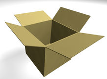 Box. An empty box - 3d render Royalty Free Stock Images