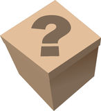 Box. Vector illustration - box with a surprise Royalty Free Stock Photo