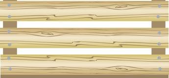 BOX. Wood. a vector illustration Stock Photos