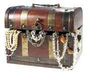 Box. With pearls Royalty Free Stock Image