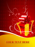 Box. One yellow gift box with red bow Stock Image
