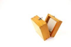 Box. Beautiful yellow small wooden box Royalty Free Stock Photo
