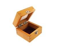 Box. Beautiful yellow small wooden box Stock Photos