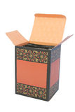 The box. Box with packages inside. The cover is opened Royalty Free Stock Photography