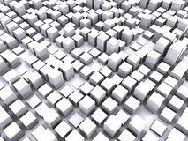 Box. Square abstract background 3d illustration Stock Image