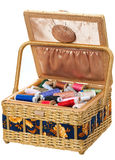 Box with accessories for sewing Royalty Free Stock Photography