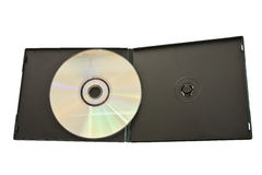 A box adds black CD. Data storage device widely used today stock photography